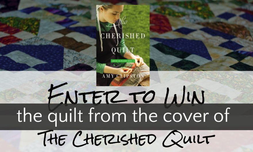 Amy Clipston is Giving Away the Quilt on the Cover of her Book!