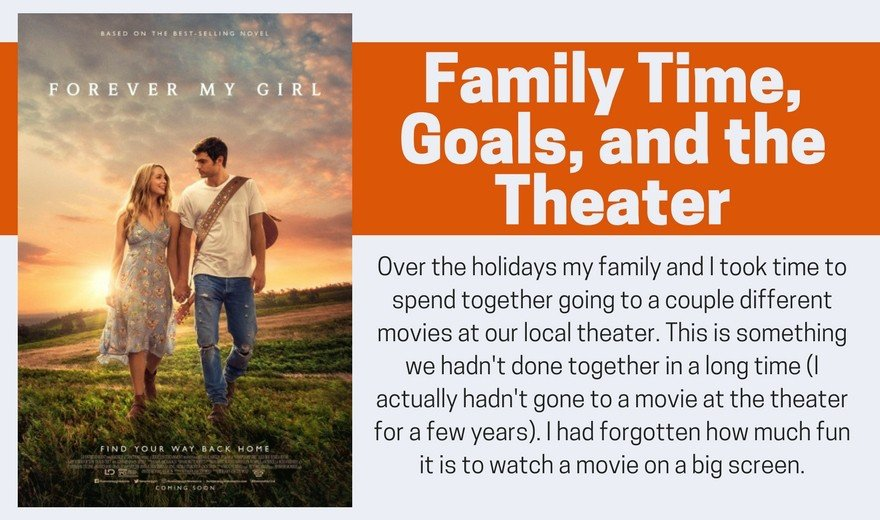 Family Time, Goals, and the Theater